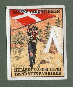 Boy Scouts  DENMARK  OLD match box label packet size #207